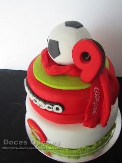 bolo futebol benfica bragança doces opções