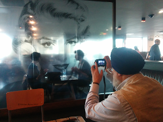 Amarjit Chandan at BFI cafe in april 2015.