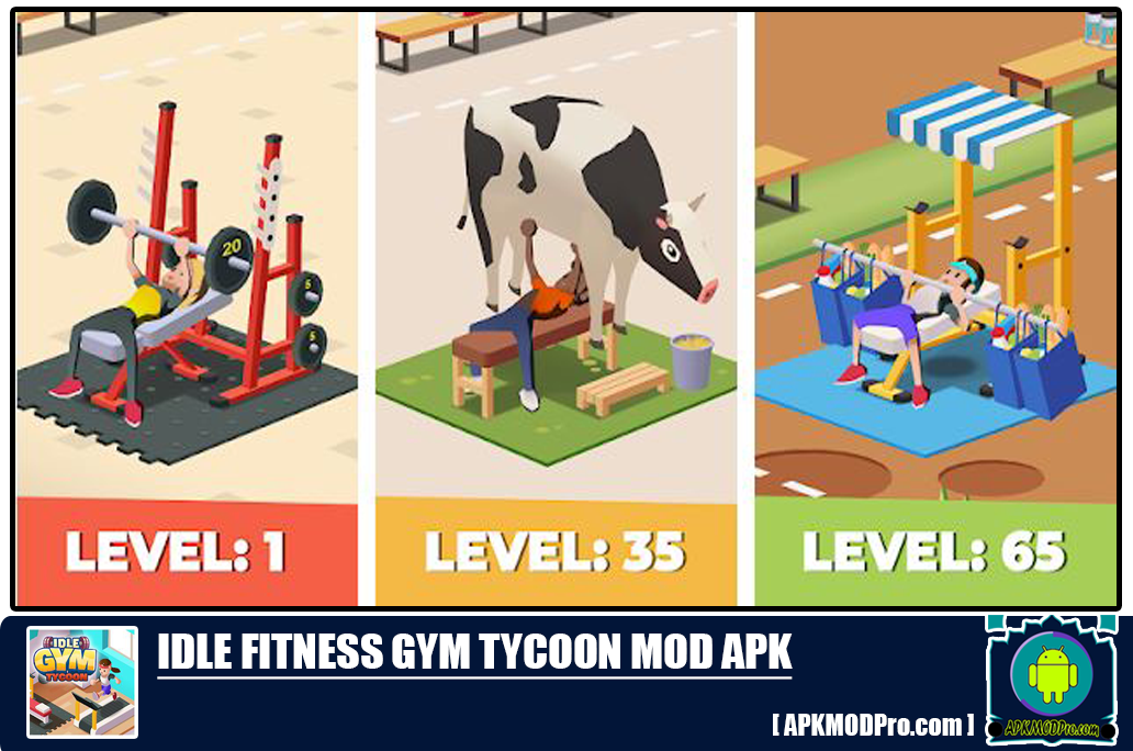 Idle Fitness Gym Tycoon MOD APK 1.5.0 (Unlimited Money) For Android