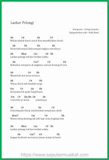 chord lagu laskar pelangi band nidji