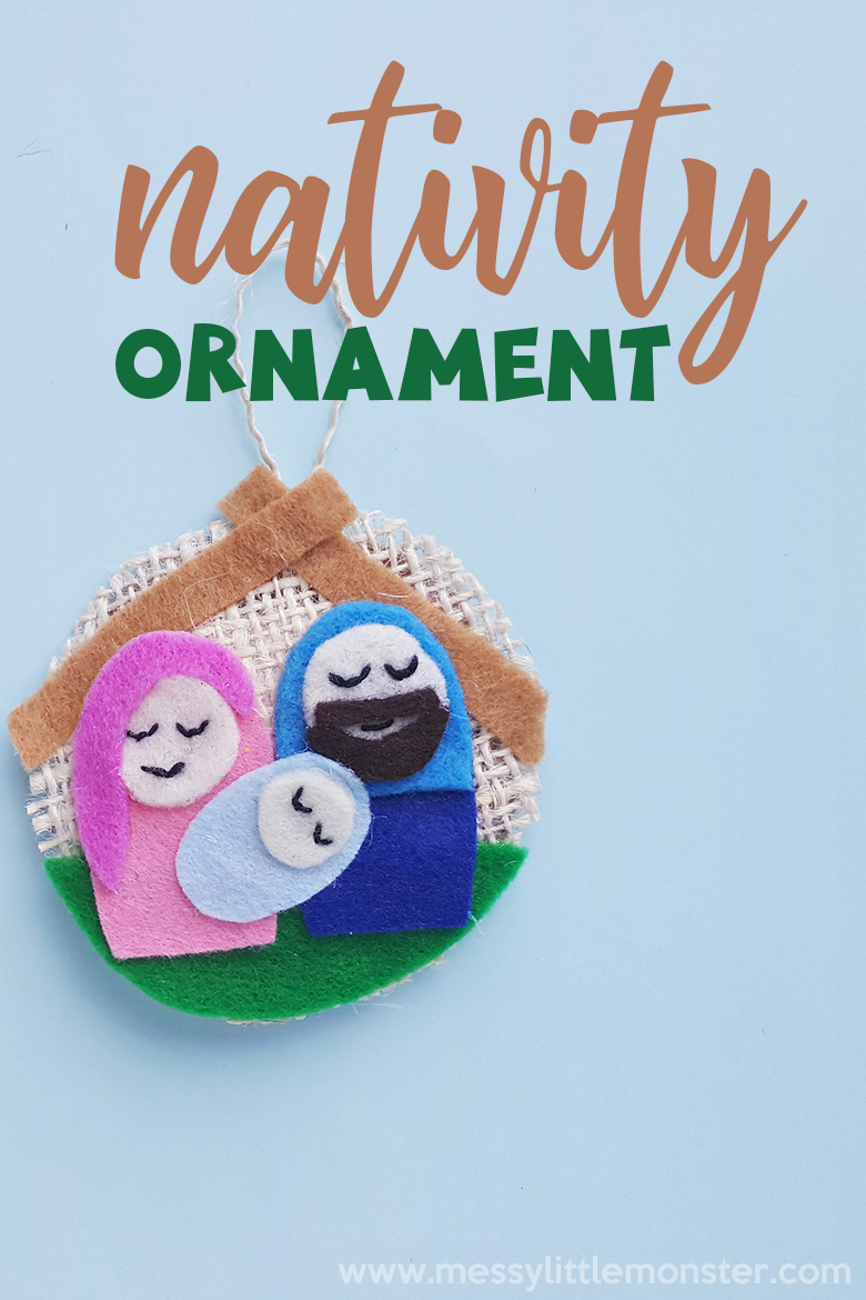Nativity ornaments. An easy sewing project and fun nativity craft. Christmas crafts for kids.