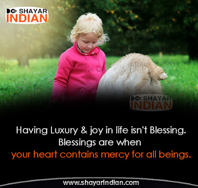 Blessings Quote - Top Thought Being Human