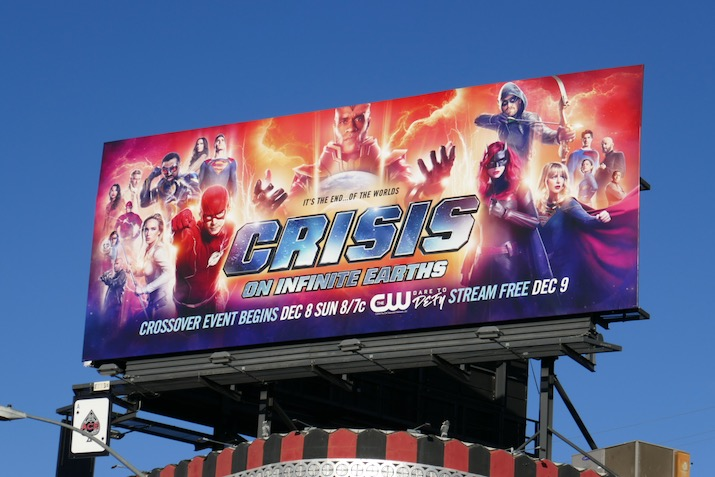 Arrowverse Crisis on Infinite Earths billboard