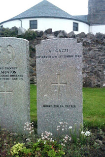 Grave of Andrea Gazzi, who died in the sinking of the Arandora Star