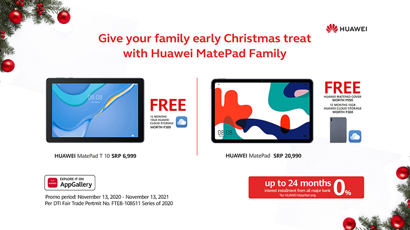 Deal: Every Huawei MatePad, MatePad T10 purchase comes with FREEBIES this Christmas!