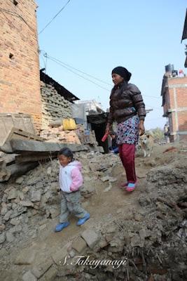 Nepal Bungamatiの集落内