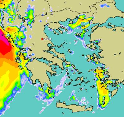3 - Μπόρες και καταιγίδες σε μεγάλο μέρος της χώρας (+XAΡΤΕΣ ΥΕΤΟΥ)