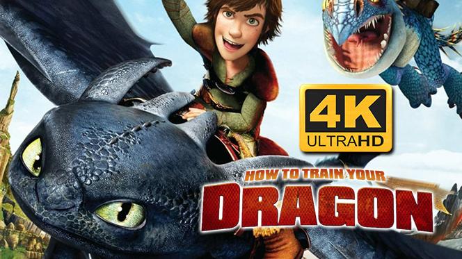 Cómo Entrenar a tu Dragón (2010) 4K UHD 2160p Latino-Castellano-Ingles