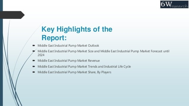 Some Significance Report About Middle East Industrial Pump Market
