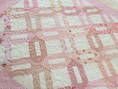 Karen's Charity Pink Kisses Quilt,