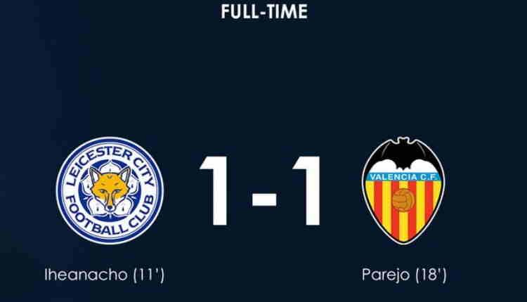 Hasil Leicester City vs Valencia Skor Akhir 1-1 [Friendly Match]