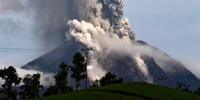 Sinabung Volcano, Indonesia