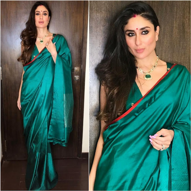 Kareena Kapoor's Sari Looks on diwali 2