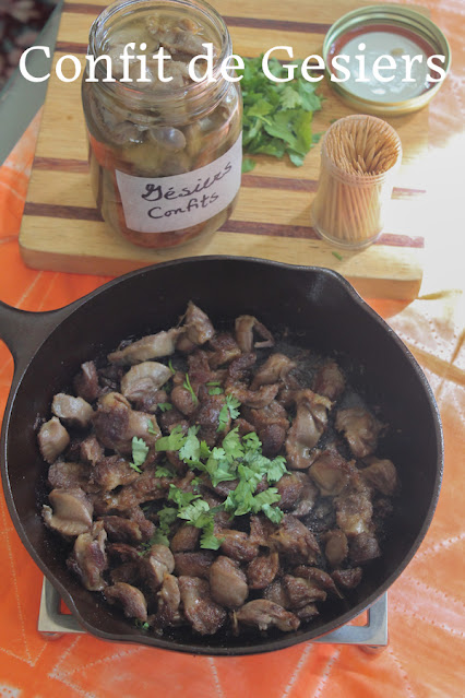 Food Lust People Love: This confit de gesiers takes a tough, inexpensive part of the chicken and turns it into tender morsels that are a great appetizer for your cocktail party.
