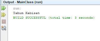 output operator kondisional java