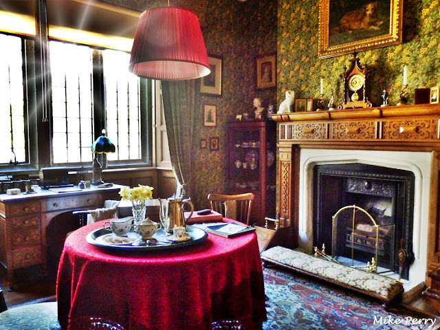 Tea time in the living room, Lanhydrock House, Cornwall