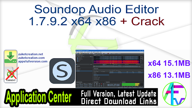 Soundop Audio Editor 1.7.9.2 x64 x86 + Crack