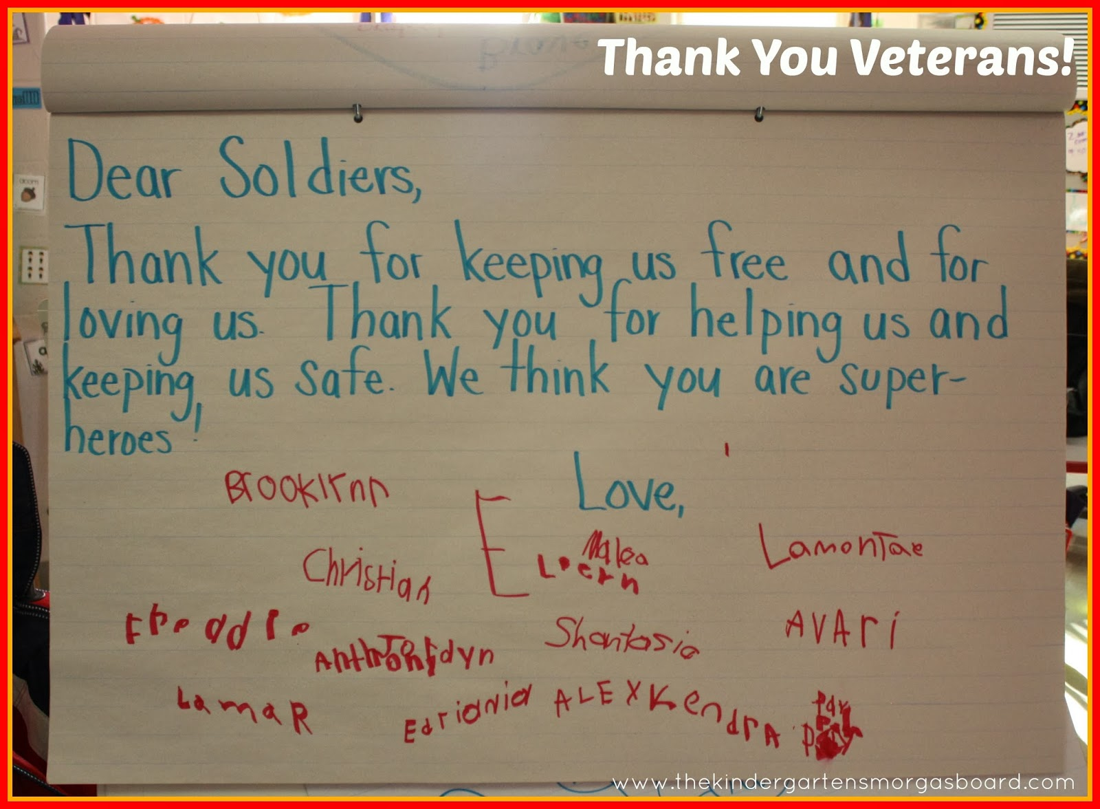 writing a thank you letter to veterans