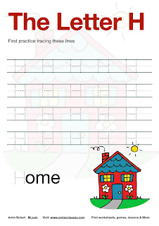 Practice Tracing The Letter H Free Download.