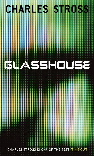 Book cover for Charles Stross's Glasshouse in the South Manchester, Chorlton, and Didsbury book group