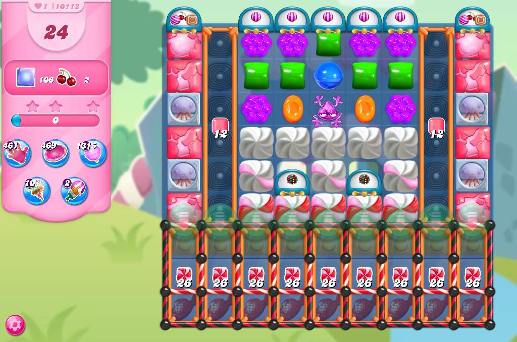 Candy Crush Saga level 10112