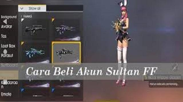 Cara beli akun FF sultan murah