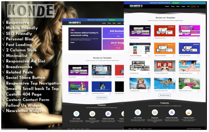 Free Download Clone & Redesign Responsive Blogger Template