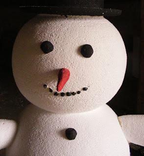 boneco de neve de isopor