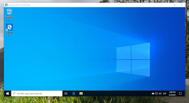 Instancia Windows Sandbox