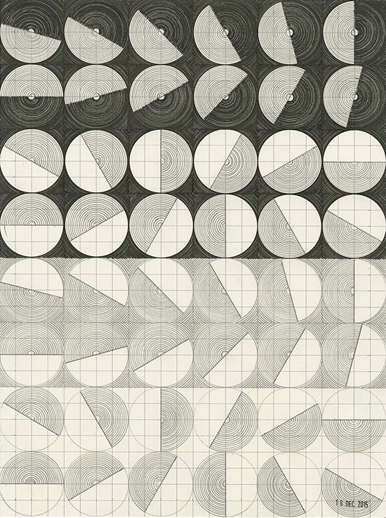 Henri Jacobs eyes, wheels, suns, mills | journal drawing
