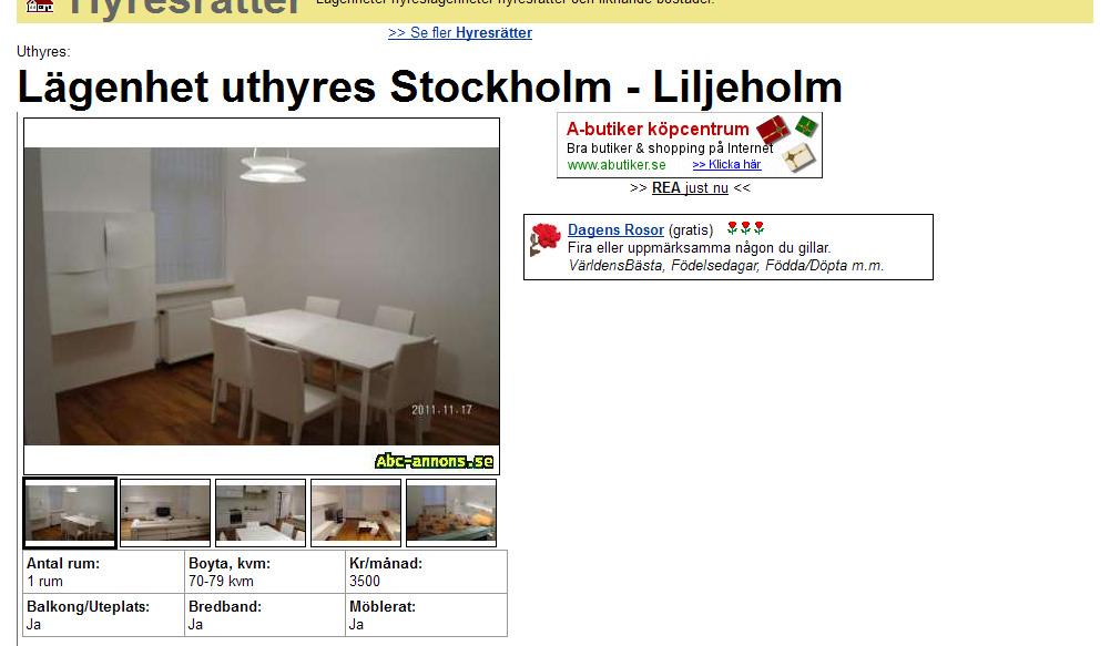 wohnungsbetrug blogspot com Lägenhet uthyres Stockholm Liljeholm Vorkassebetrug fraud scam