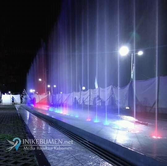 Air Mancur Taman Depan Pendopo Bupati Kebumen Mulai Diujicoba