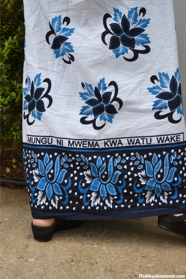 Flashback Summer: This Is My Church Khanga - Tanzania kanga fabric skirt