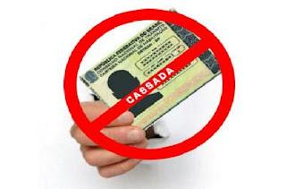 Veja cinco situações que podem levar sua carteira a ser suspensa e até mesmo cassada