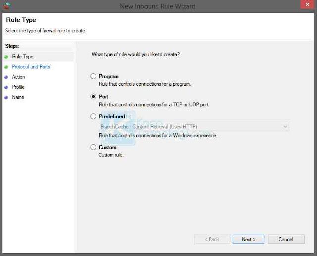 Cara memblokir port yang rentan disusupi virus di Windows 7/8/10 menggunakan Windows Firewall agar sistem komputer dan jaringan komputer lebih aman.