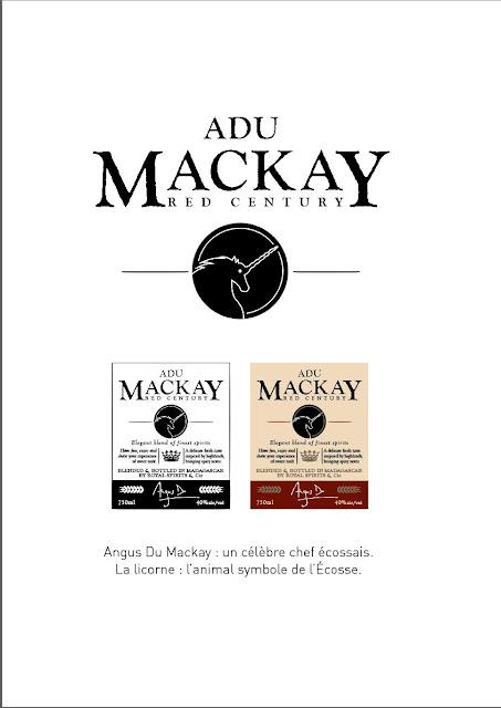 création nom de marque whisky Adu Mackay