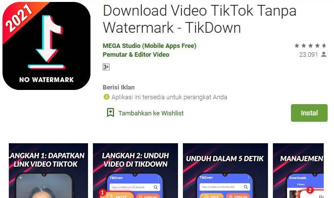 aplikasi download video TikTok tanpa watermark