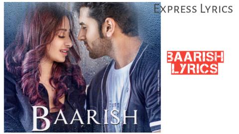 BAARISH - Sonu Kakkar | Mahira Sharma | Paras Chhabra - Bindaas Lyrics