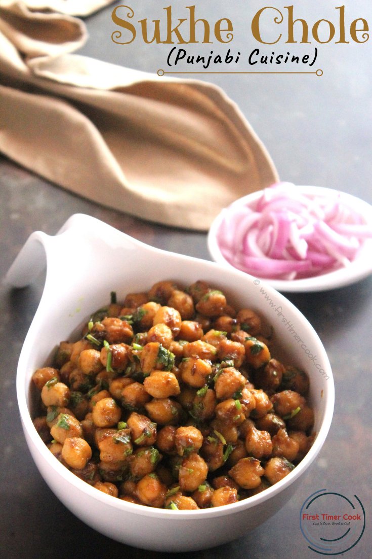 Punjabi Sukhe Chole / Chickpea Stir-fry