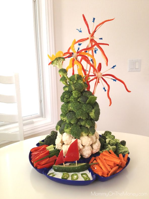 4th of July Statue of Liberty Veggie Platter
