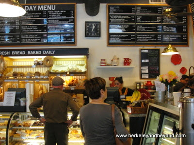 Basque Boulangerie Cafe interior in Sonoma, California