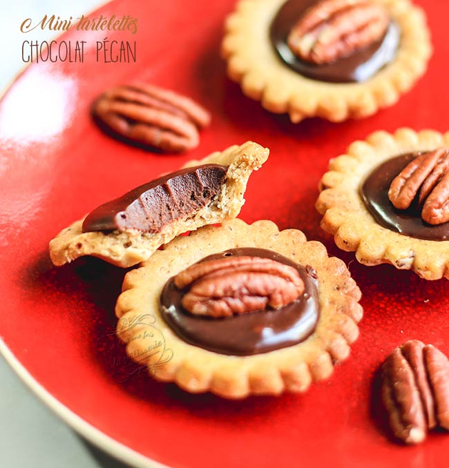 mini tartelettes chocolat pécan