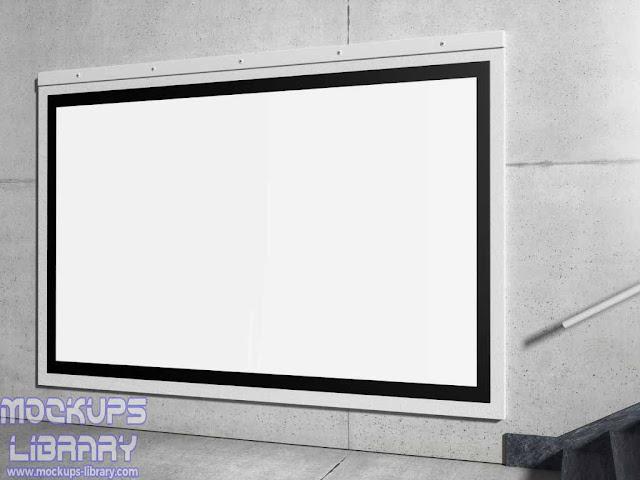horizontal billboard mockup 2
