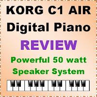Korg C1 Air digital piano Review / 2020 - 50 watt stereo sound
