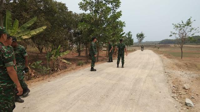 Dandim 0619 Purwakarta Tinjau Lokasi TMMD 106 Di Cisaat