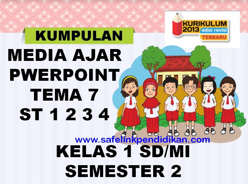 Media Ajar Powerpoint Tema 7 Subtema 1 2 3 4 Kelas 1