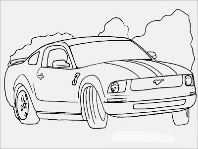 coloring pages of a ford mustang