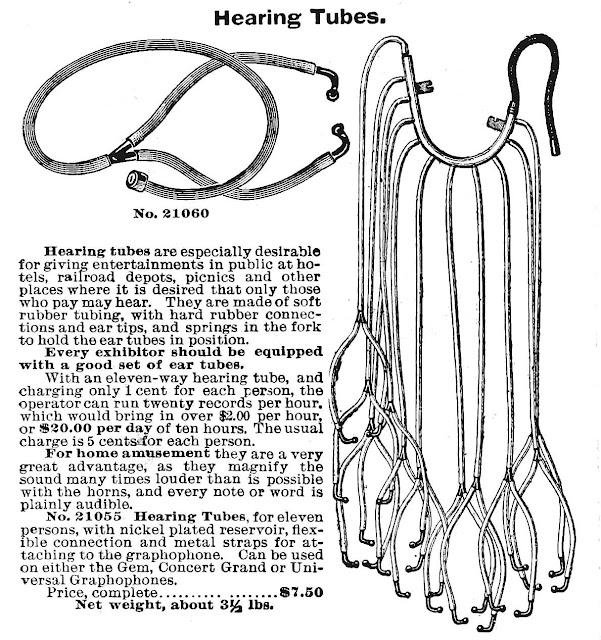1898 novelty hearing tubes