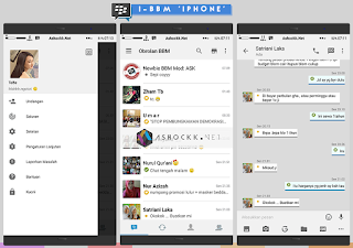 Download i-BBM versi 2.11.0.18 - UI Modern Style iPhone Terbaru Gratis
