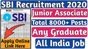 State Bank of India SBI Recruitment 2020 for 8653 Junior Associate Vacancies Notification PDF Out Apply Online @ www.sbi.co.in /2020/01/SBI-Recruitment-Notification-for-8653-Junior-Associate-Vacancies-Apply-Online-at-sbi.co.in..html
